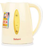Чайник электрический дисковый Saturn ST-EK8438 Beige 1,7л