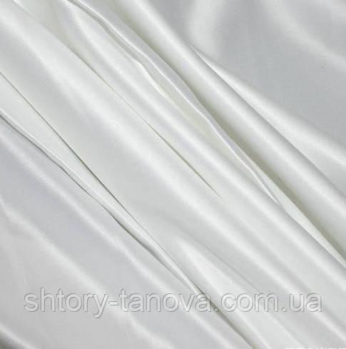 Атлас для штор плотный белый