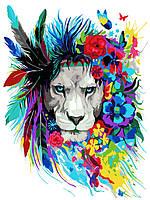 Картина по номерам Волшебный лев (KH2483) Идейка 40 х 50 см