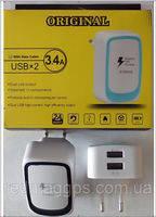 ORIGINAL 3100 charger 2 USB 3.4A!Акция