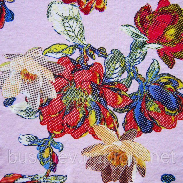 Тканина блузочная принтованная «Маркет» (P6136 дизайн 13)