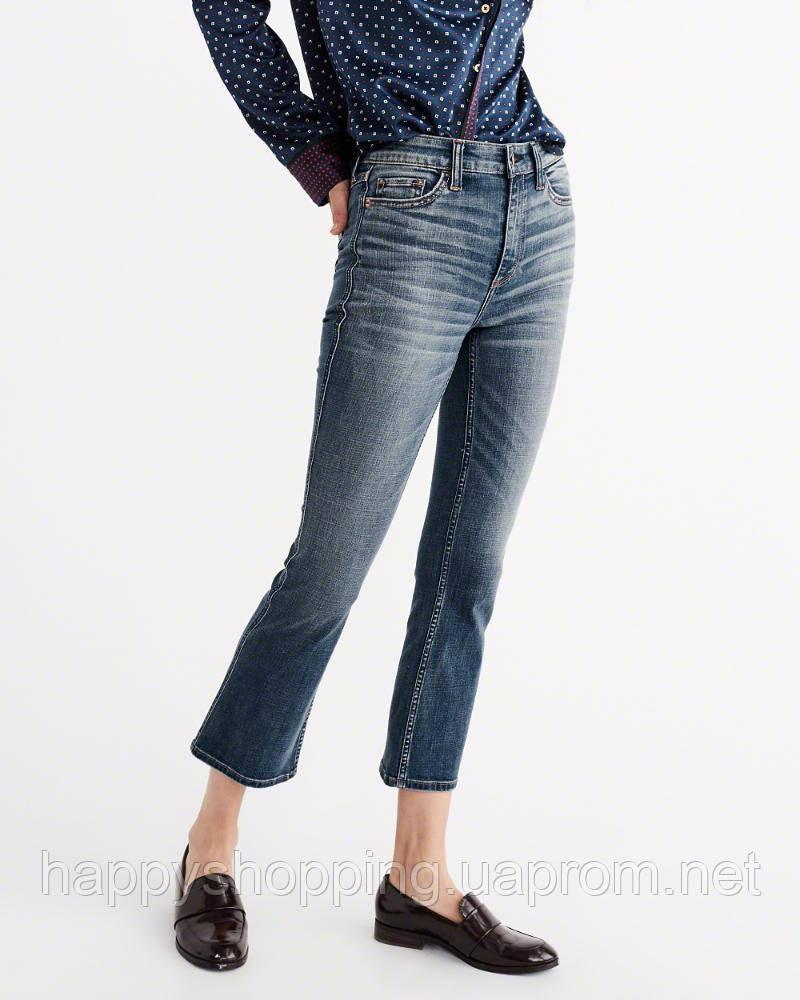 Укороченые джинсы с завышенной талией Abercrombie & Fitch