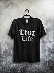 Мужская футболка Thug Life черная