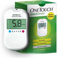 Глюкометр One Touch Select Simple System (10 тест-полосок, 10 ланцетов, автоматическая ручка для прокола)