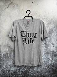Мужская футболка Thug Life серая
