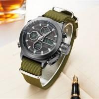 Часы мужские наручные AMST Biden+фирменная коробка в подарок nylon green-black