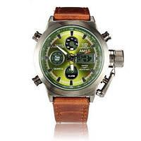 Часы мужские наручные AMST Biden+фирменная коробка в подарок brown-green