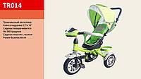Велосипед трехколесный с фарой TR015, надувные колеса салатовый