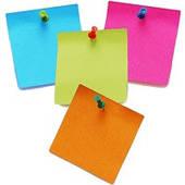 Бумага для заметок, стикеры, индексы