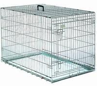 Клетка-переноска для собак металлическая с 1-ой дверью 86*57*65см (Д303)