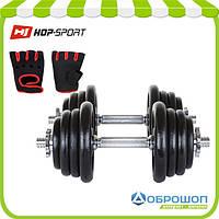 Гантели металлические Hop-Sport 2х20кг, фото 1