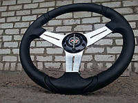 Руль спортивный №601 диаметр 35 см. с переходником на Ланос., фото 1