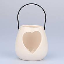 Подсвечник керамический Сердце HA1601