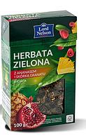 Чай Lord Nelson Herbata zielona листовой зеленый ананас+гранат 100