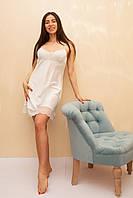 Шелковая ночная сорочка цвета айвори