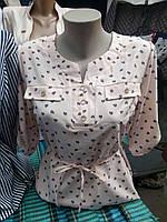 Блуза модная женская с украшением (48р), доставка по Украине