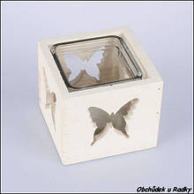 Подсвечник стеклянный Бабочка VN3881B