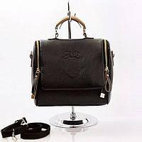Модная женская маленькая сумка черная корона