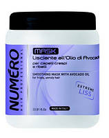 """Маска для выпрямления волос с маслом авокадо """"Brelil"""" Numero (1000ml)"""