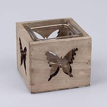 Подсвечник стеклянный Бабочка VN3881S
