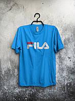 Мужская футболка Fila голубая