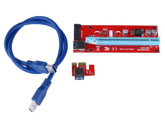 USB Riser райзер rizer x1-x16 SATA 60см #100428