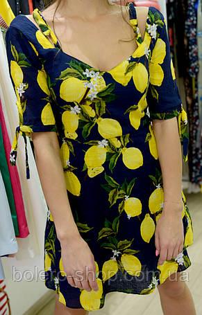 Женское платье короткое  с принтом  летнее, фото 2