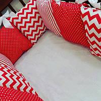 Бортики-защита в детскую кроватку: 8 подушек в расцветках