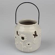 Подсвечник керамический серый SF 1710-4