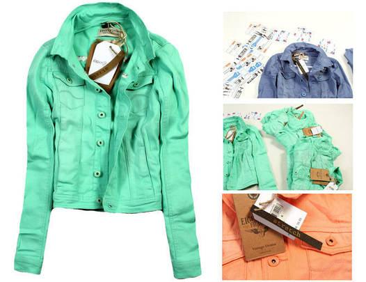 Куртка джинсовая короткая женская Мята