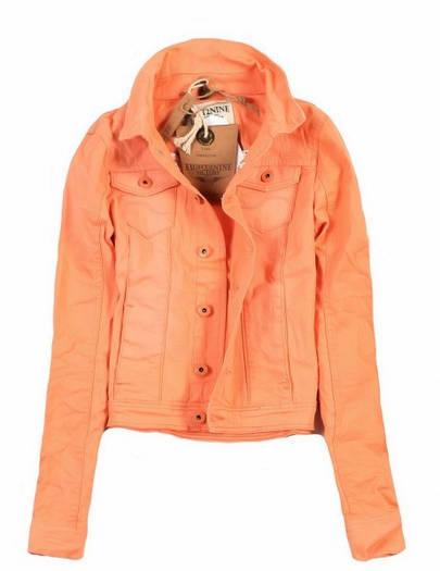 Куртка джинсовая короткая женская Оранжевый