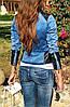 Куртка джинсовая + вставки эко-кожи, фото 3