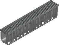 Желоб черный HAURATON RECYFIX PRO с композитной решеткой FIBRETEC