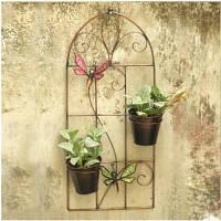 Декоративное подвесное панно с кашпо Engard Райские бабочки