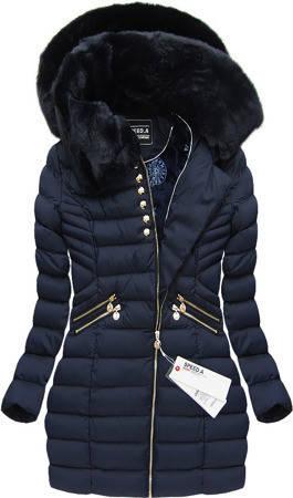 Зимний женский пуховик куртка  Синий