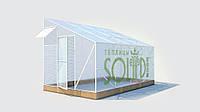Теплица  односкатная из поликарбоната эконом 2,5 Solidprof 10мм