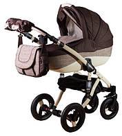 Детская универсальная коляска 2 в 1 ADAMEX Erika ЕСО (Темный беж-шоколад(лен) 600К)