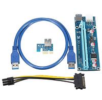 USB Riser райзер rizer 6pin PCI-e 60см #100410