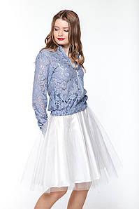"""Спідниця фатін """"Romantic"""" біла юбка пачка фатин"""