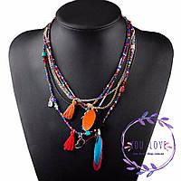 Ожерелье этническое в бохо стиле Алеста