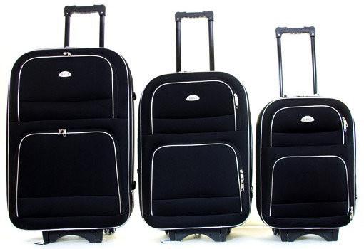 Дорожный чемодан на колесах Deli 901, набор 3 штуки