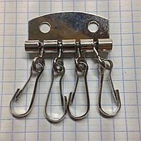 Ключница карабин никель (10шт)