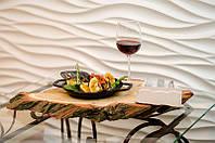 Гипсовая декоративная  3 д панель волна ( Поток )  размер 50см на 50см на 30 мм