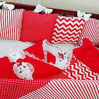 Комплект для новорожденных - Подушки красных оттенков