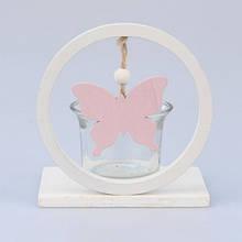 Подсвечник с бабочкой сиреневый ZS1002