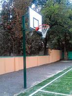 Комплект баскетбольный: стойка, щит из фанеры ламинированой , корзина и сетка, фото 1