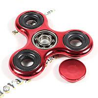 Fidget Spinner (Finger Spinner) - Спиннер, крутилка, вертелка, вертушка - Металлический, Красный хром, фото 1
