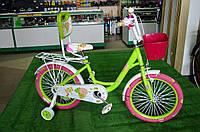 """Детский велосипед Rose 18"""" зеленый"""