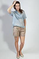 Рубашка- туника  женская летняя легкая короткий рукав  Massimo Dutti