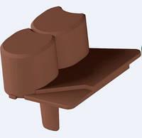 Палисадник декоративный (для газона) ZMM Maxpol 6см темно-коричневый